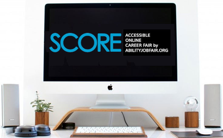 Computer-with score logo on screen