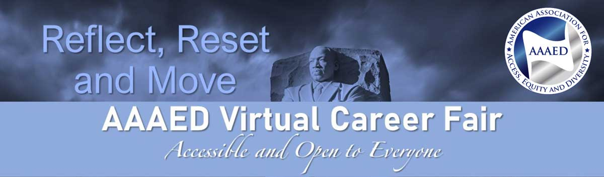 AAAED Virtual Career Fair Accessible and open to all