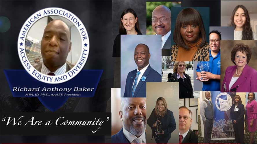 Richard Baker, AAAED president and various leaders -we are community'