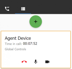 Agent device box with icon to disconnect
